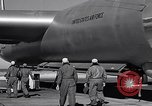 Image of pre-flight inspection of Convair B-36 and crew Fort Worth Texas USA, 1951, second 55 stock footage video 65675032420