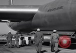 Image of pre-flight inspection of Convair B-36 and crew Fort Worth Texas USA, 1951, second 56 stock footage video 65675032420