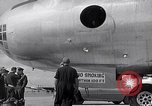 Image of Unloading materiel from a B-36 Roswell New Mexico USA, 1953, second 16 stock footage video 65675032428