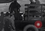 Image of Unloading materiel from a B-36 Roswell New Mexico USA, 1953, second 23 stock footage video 65675032428