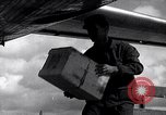 Image of Unloading materiel from a B-36 Roswell New Mexico USA, 1953, second 40 stock footage video 65675032428