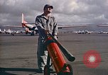 Image of Fire guard for aircraft engine start Honolulu Hawaii USA, 1959, second 2 stock footage video 65675032481