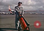 Image of Fire guard for aircraft engine start Honolulu Hawaii USA, 1959, second 4 stock footage video 65675032481