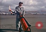 Image of Fire guard for aircraft engine start Honolulu Hawaii USA, 1959, second 5 stock footage video 65675032481
