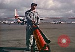 Image of Fire guard for aircraft engine start Honolulu Hawaii USA, 1959, second 6 stock footage video 65675032481
