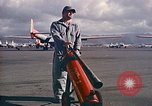 Image of Fire guard for aircraft engine start Honolulu Hawaii USA, 1959, second 7 stock footage video 65675032481