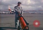 Image of Fire guard for aircraft engine start Honolulu Hawaii USA, 1959, second 9 stock footage video 65675032481