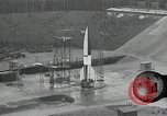 Image of slow motion A-4 Missile launch Peenemunde Rocket Centre Ostvorpommern Germany, 1942, second 10 stock footage video 65675032508