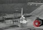 Image of slow motion A-4 Missile launch Peenemunde Rocket Centre Ostvorpommern Germany, 1942, second 18 stock footage video 65675032508