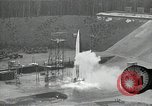 Image of slow motion A-4 Missile launch Peenemunde Rocket Centre Ostvorpommern Germany, 1942, second 25 stock footage video 65675032508