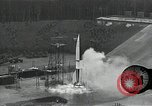 Image of slow motion A-4 Missile launch Peenemunde Rocket Centre Ostvorpommern Germany, 1942, second 29 stock footage video 65675032508