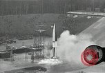 Image of slow motion A-4 Missile launch Peenemunde Rocket Centre Ostvorpommern Germany, 1942, second 31 stock footage video 65675032508