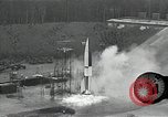 Image of slow motion A-4 Missile launch Peenemunde Rocket Centre Ostvorpommern Germany, 1942, second 33 stock footage video 65675032508