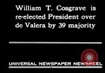Image of William T Cosgrave Ireland, 1930, second 2 stock footage video 65675032517