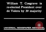 Image of William T Cosgrave Ireland, 1930, second 9 stock footage video 65675032517