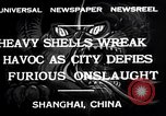 Image of Japanese bombing of Shanghai Shanghai China, 1932, second 6 stock footage video 65675032521