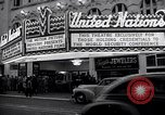 Image of United Nations delegates watch German surrender film San Francisco California USA, 1945, second 6 stock footage video 65675032538
