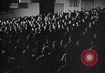 Image of United Nations delegates watch German surrender film San Francisco California USA, 1945, second 9 stock footage video 65675032538