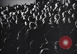 Image of United Nations delegates watch German surrender film San Francisco California USA, 1945, second 13 stock footage video 65675032538