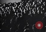 Image of United Nations delegates watch German surrender film San Francisco California USA, 1945, second 15 stock footage video 65675032538