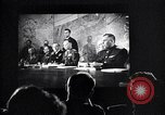 Image of United Nations delegates watch German surrender film San Francisco California USA, 1945, second 17 stock footage video 65675032538