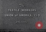 Image of textile workers union United States USA, 1950, second 2 stock footage video 65675032617