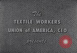Image of textile workers union United States USA, 1950, second 4 stock footage video 65675032617