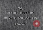 Image of textile workers union United States USA, 1950, second 5 stock footage video 65675032617