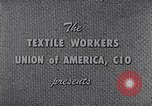 Image of textile workers union United States USA, 1950, second 9 stock footage video 65675032617