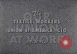Image of textile workers union United States USA, 1950, second 12 stock footage video 65675032617