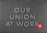 Image of textile workers union United States USA, 1950, second 13 stock footage video 65675032617
