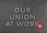 Image of textile workers union United States USA, 1950, second 14 stock footage video 65675032617