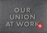 Image of textile workers union United States USA, 1950, second 15 stock footage video 65675032617