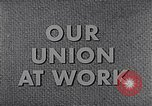 Image of textile workers union United States USA, 1950, second 16 stock footage video 65675032617