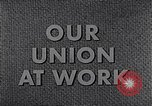 Image of textile workers union United States USA, 1950, second 17 stock footage video 65675032617