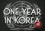 Image of UN General Assembly  Korea, 1950, second 7 stock footage video 65675032621