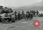 Image of U.S. tanks and 3rd infantry in Korean War Korea, 1951, second 15 stock footage video 65675032631