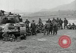 Image of U.S. tanks and 3rd infantry in Korean War Korea, 1951, second 16 stock footage video 65675032631