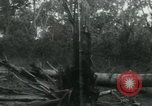 Image of Vietnamese people leaving a damaged Viet Cong camp Vietnam, 1965, second 60 stock footage video 65675032689