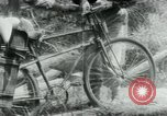 Image of Viet Cong moving supplies in Jungles on bicycles Vietnam, 1967, second 37 stock footage video 65675032692