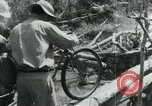 Image of Viet Cong moving supplies in Jungles on bicycles Vietnam, 1967, second 44 stock footage video 65675032692