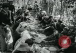 Image of Vietnamese families carrying food and supplies into Viet Cong camp in  Vietnam, 1965, second 32 stock footage video 65675032697