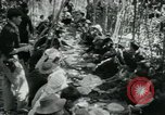 Image of Vietnamese families carrying food and supplies into Viet Cong camp in  Vietnam, 1965, second 33 stock footage video 65675032697