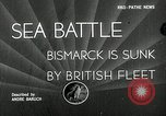Image of Sinking of the Bismarck Saint-Nazaire France, 1941, second 1 stock footage video 65675032706