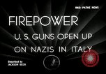 Image of American artillery barrage against German forces Italy, 1944, second 2 stock footage video 65675032709