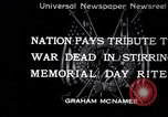 Image of Memorial Day United States USA, 1934, second 1 stock footage video 65675032723