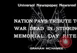 Image of Memorial Day United States USA, 1934, second 3 stock footage video 65675032723