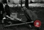 Image of People cleaning up a lot for use as a playground Monroe New York USA, 1950, second 9 stock footage video 65675032772
