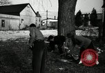 Image of People cleaning up a lot for use as a playground Monroe New York USA, 1950, second 26 stock footage video 65675032772