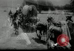 Image of Wagon trains of pioneers moving west United States USA, 1954, second 55 stock footage video 65675032789